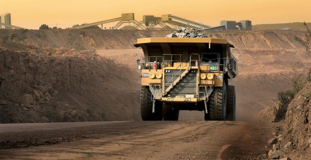 Diamond recovery at Jwaneng mine, Botswana.