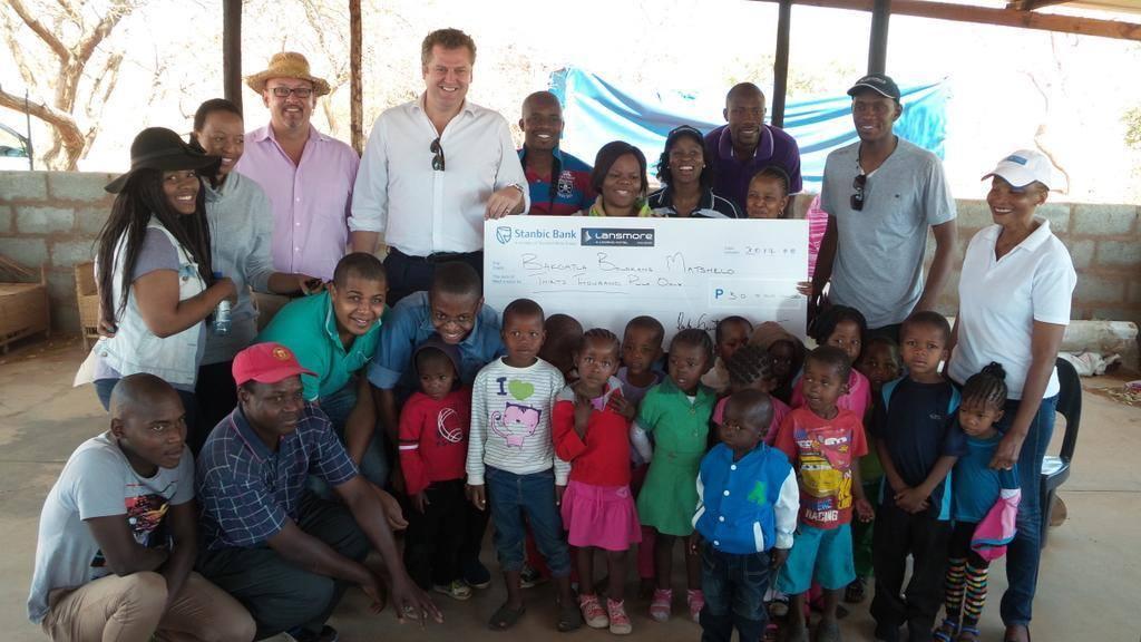 Lansmore Masa Square donate P30,000 to Bakgatla Boloka Matshelo Centre in Mochudi