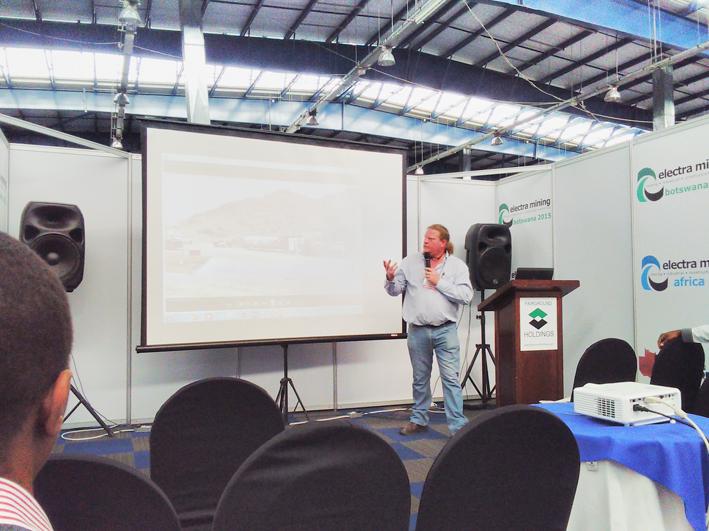 Rick Esterhuizen at Electra Mining Botswana 2015