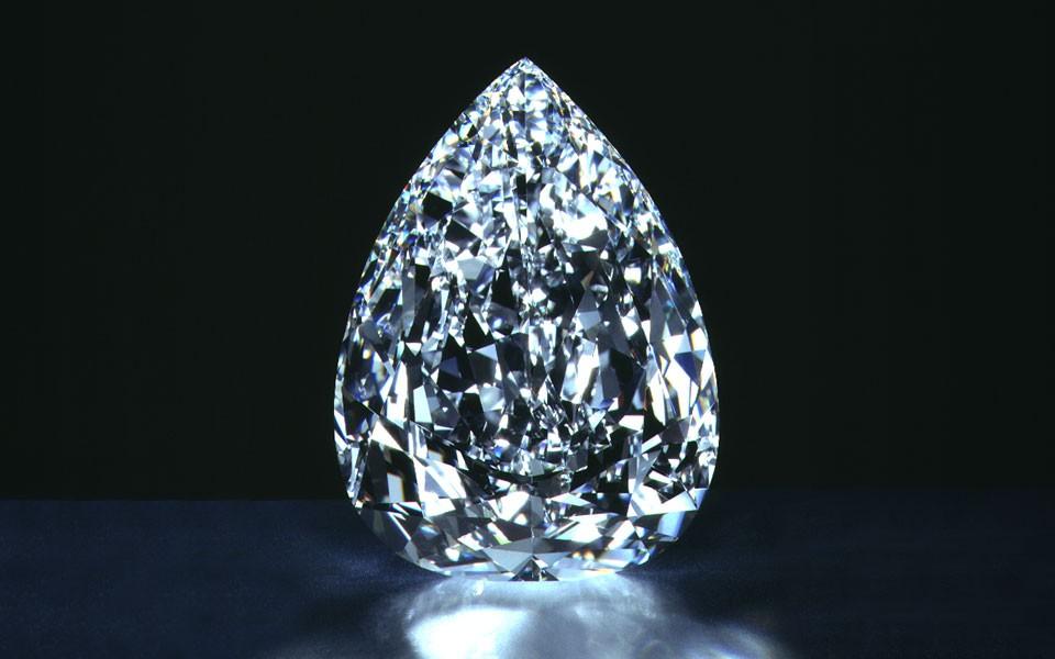 203.04 carat De Bbeers millennium star diamond